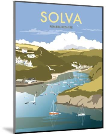 Solva - Dave Thompson Contemporary Travel Print-Dave Thompson-Mounted Art Print