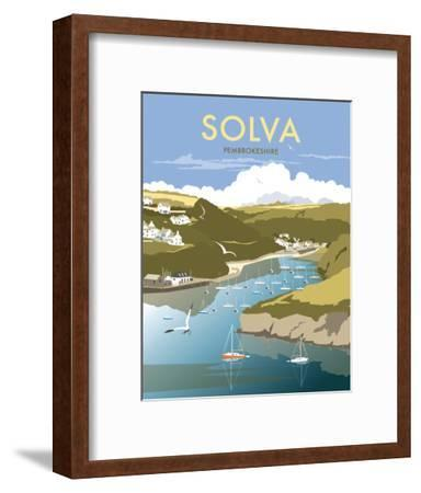 Solva - Dave Thompson Contemporary Travel Print-Dave Thompson-Framed Art Print