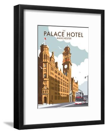 Manchester Palace Hotel - Dave Thompson Contemporary Travel Print-Dave Thompson-Framed Art Print