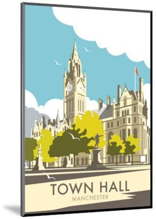 Manchester Town Hall - Dave Thompson Contemporary Travel Print-Dave Thompson-Mounted Art Print