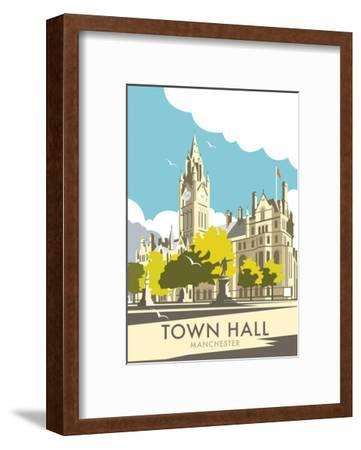 Manchester Town Hall - Dave Thompson Contemporary Travel Print-Dave Thompson-Framed Art Print