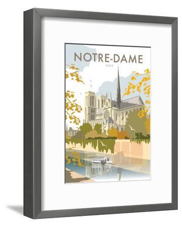 Notre Dame - Dave Thompson Contemporary Travel Print-Dave Thompson-Framed Art Print