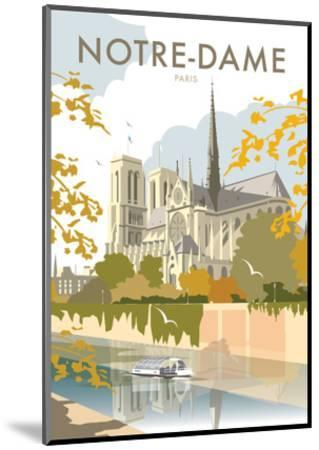 Notre Dame - Dave Thompson Contemporary Travel Print-Dave Thompson-Mounted Art Print