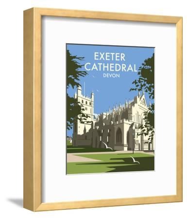 Exeter Cathedral - Dave Thompson Contemporary Travel Print-Dave Thompson-Framed Art Print