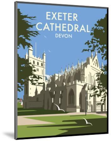 Exeter Cathedral - Dave Thompson Contemporary Travel Print-Dave Thompson-Mounted Art Print