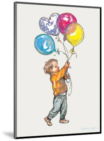 Balloons - Alfie Illustrated Print-Shirley Hughes-Mounted Art Print