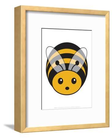 Bee - Animaru Cartoon Animal Print-Animaru-Framed Giclee Print