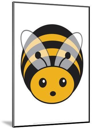 Bee - Animaru Cartoon Animal Print-Animaru-Mounted Giclee Print