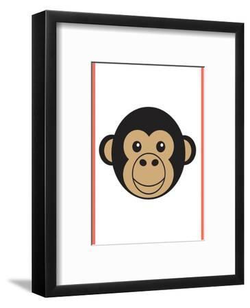 Monkey - Animaru Cartoon Animal Print-Animaru-Framed Giclee Print