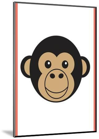 Monkey - Animaru Cartoon Animal Print-Animaru-Mounted Giclee Print