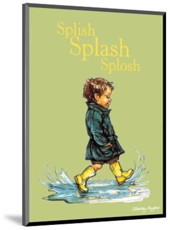 Splish Splash Splosh - Alfie Illustrated Print-Shirley Hughes-Mounted Art Print