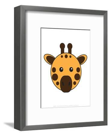 Giraffe - Animaru Cartoon Animal Print-Animaru-Framed Giclee Print