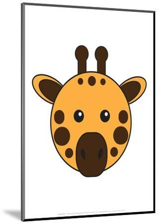 Giraffe - Animaru Cartoon Animal Print-Animaru-Mounted Giclee Print