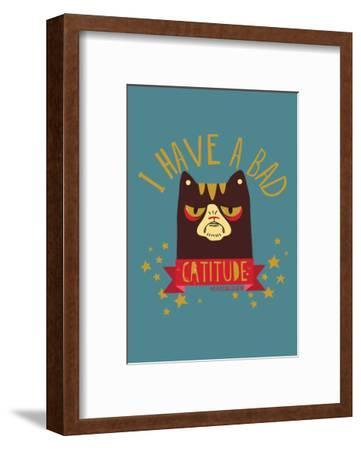 CATTITUDE - David & Goliath Print-David & Goliath-Framed Art Print