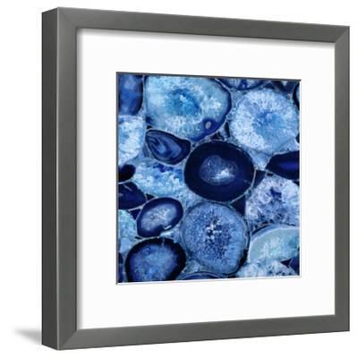 Agate in Blue I-Danielle Carson-Framed Giclee Print