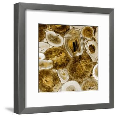 Agate in Gold I-Danielle Carson-Framed Giclee Print