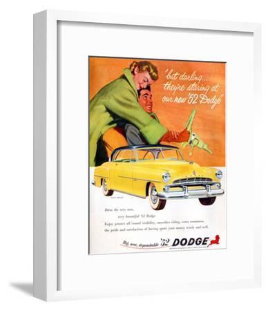 Big New Dependable 52 Dodge--Framed Art Print