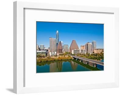 Austin Texas Downtown Skyline--Framed Art Print