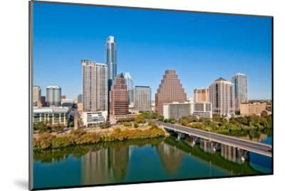 Austin Texas Downtown Skyline--Mounted Art Print