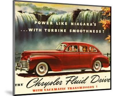 Chrysler Fluid Drive - Niagara--Mounted Art Print