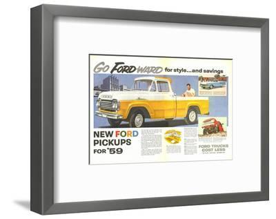 Ford 1959 Go Forward for Style--Framed Art Print