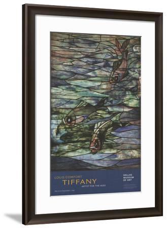 Window Panel with Swimming Fish-Louis Comfort Tiffany-Framed Art Print