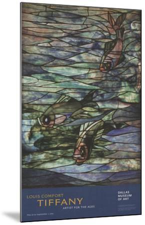 Window Panel with Swimming Fish-Louis Comfort Tiffany-Mounted Art Print