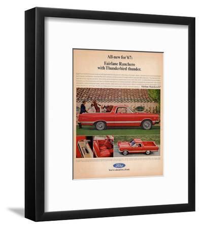 Ford 1967 Fairlane Ranchero--Framed Art Print