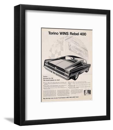 Ford 1968 Torino Wins Rebel400--Framed Art Print