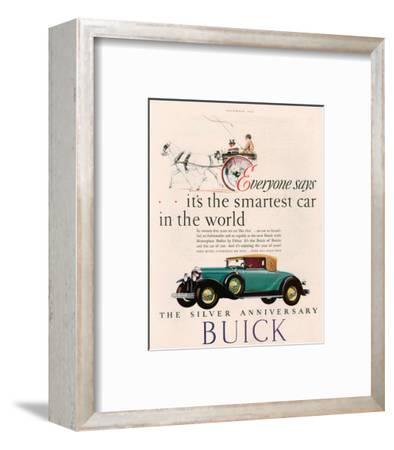 GM Buick - Is the Smartest Car--Framed Art Print
