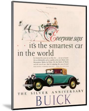 GM Buick - Is the Smartest Car--Mounted Art Print