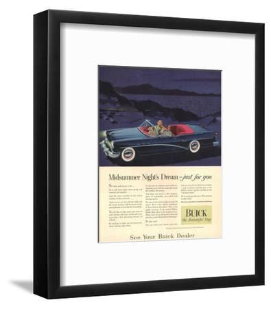 GM Buick - Just for You--Framed Art Print