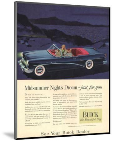 GM Buick - Just for You--Mounted Art Print
