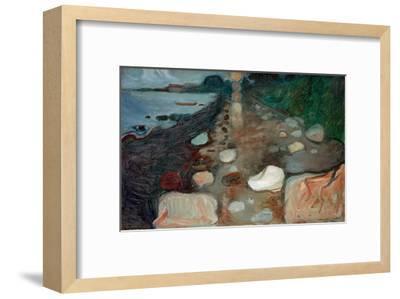 Moonlight on the Beach, 1892-Edvard Munch-Framed Giclee Print