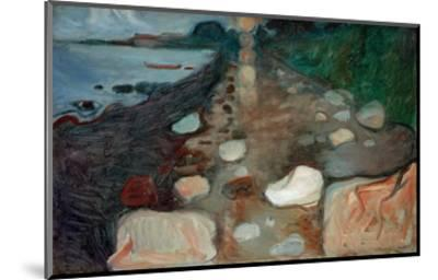 Moonlight on the Beach, 1892-Edvard Munch-Mounted Giclee Print