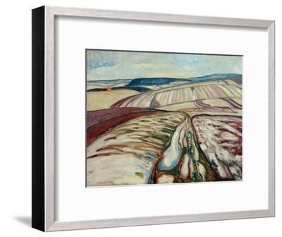 Thaw, 1906-Edvard Munch-Framed Giclee Print