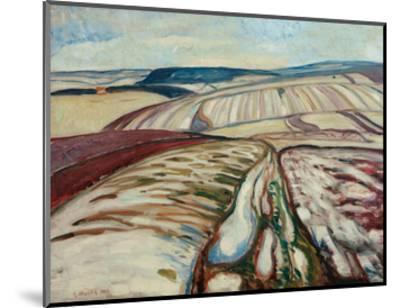 Thaw, 1906-Edvard Munch-Mounted Giclee Print