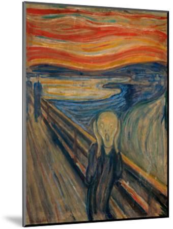 The Scream, 1893-Edvard Munch-Mounted Giclee Print