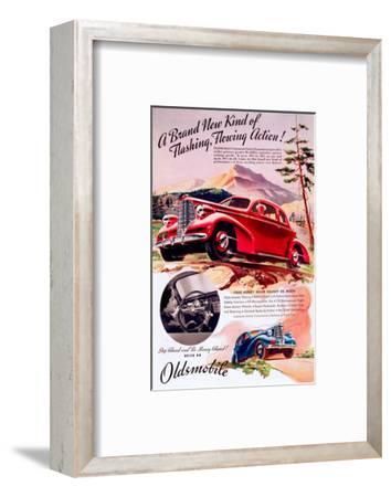 GM Oldsmobile - Flowing Action--Framed Art Print