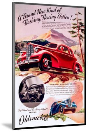 GM Oldsmobile - Flowing Action--Mounted Art Print