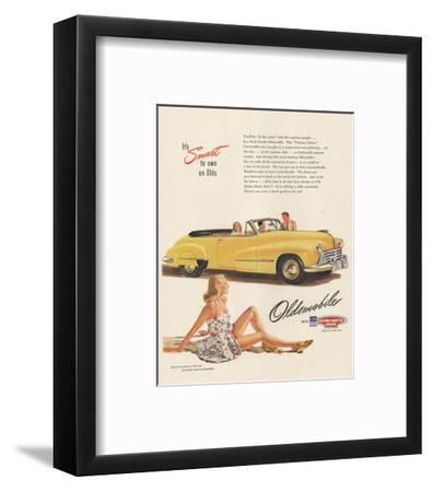 GM Oldsmobile - Smart to Own--Framed Art Print