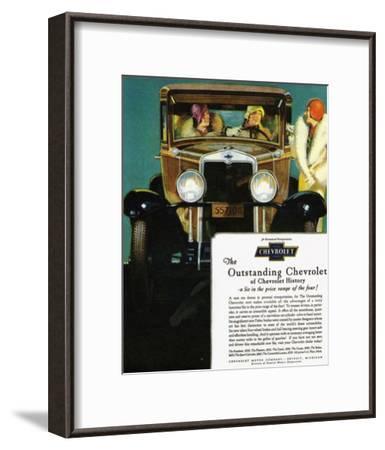 GM Outstanding Chevrolet--Framed Premium Giclee Print