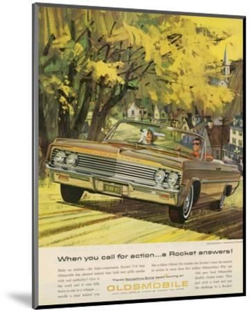 GM Oldsmobile-A Rocket Answers--Mounted Art Print