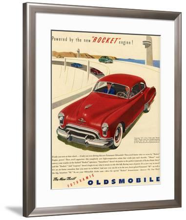 GM Oldsmobile - Rocket Engine--Framed Premium Giclee Print