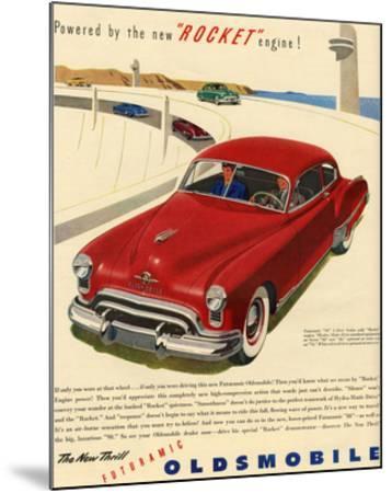 GM Oldsmobile - Rocket Engine--Mounted Premium Giclee Print