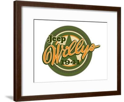 Jeep Willys 1941--Framed Art Print