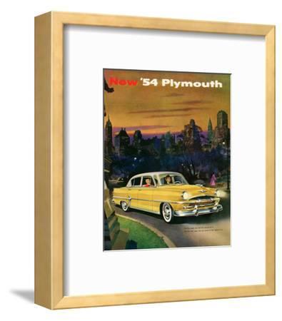 New '54 Plymouth--Framed Art Print