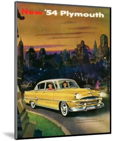 New '54 Plymouth--Mounted Art Print