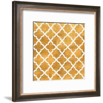 Gold Lattice II (gold foil)-Jairo Rodriguez-Framed Art Print