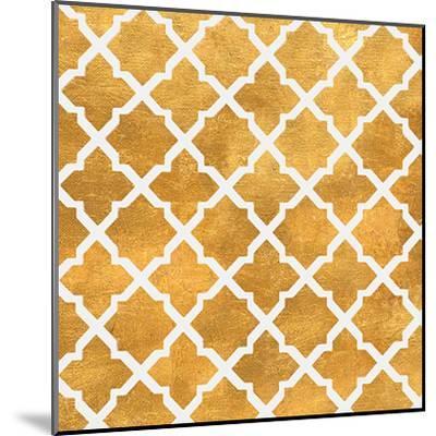 Gold Lattice II (gold foil)-Jairo Rodriguez-Mounted Art Print